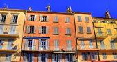 Colorful house exterior at Saint Tropez, France