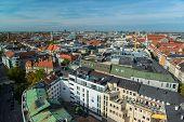 Aerial view of Munchen  Marienplatz