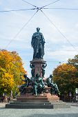 Monument of King Max II in Munich, Maximilian street  The statue was built 1875 by Ferdinand von Mil