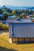 View from  Nigatsu-do Hall of Todaiji complex  in Nara
