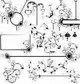Set of various design elements