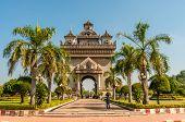Patuxai Gate In Vientiane City