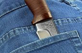 Knife In The Pocket Of Jeans