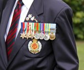 Military award medals of a world war 2 war veteran