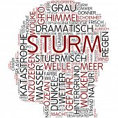 Info-text graphic - storm