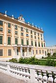 Facade of Schonbrunn Palace in Vienna, Austria