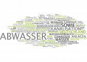Word cloud - wastewater