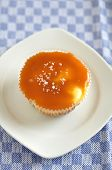 Small Caramel Cheesecakes with fleur de sel
