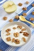 Greek Yoghurt with honey and walnuts