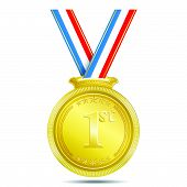 Gold Medal 1st Position Vector