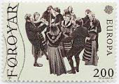 Faroese Dancers Stamp