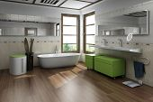 Modern design bathroom interior
