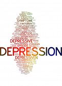 Word cloud - depression