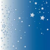 blue vector star background