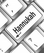 Keyboard Key With Hanukkah Word On It