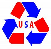 USA international Recycle Symbol