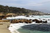 picture of pch  - Rocky beach and ocean at Pebble Beach - JPG