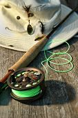 stock photo of fly rod  - Close - JPG