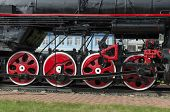 Equipment Undercarriage of the locomotive monument L-4046, the depot Sludyanka, Russia