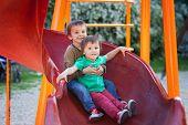 Kids, Playing On The Playground, Having Fun