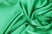 Smooth elegant emerald silk.
