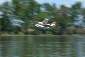 Radio Controlled Hydroplane Taking Off