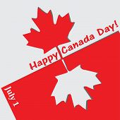 pic of applique  - Abstract applique Canada Day with the state symbols of the country - JPG