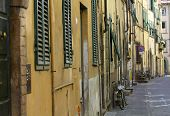 Picturesque Italian Street With Bicycle