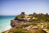 Maya ruins in Tulum, Mexico