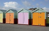 Beach Huts At Brighton. England