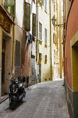 Narrow Street In The Old Town, Nice, France