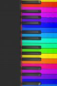 foto of rainbow piano  - Rainbow piano keys background  original piano keys - JPG