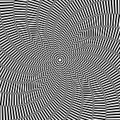 Illusion of rotation movement. Abstract op art background. Vector art.