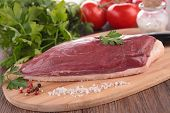 stock photo of duck breast  - raw duck breast - JPG