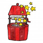 foto of wishing-well  - cartoon wishing well - JPG