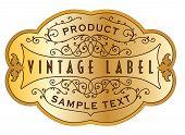 Gold Vintage Label