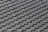Modern Black Roof Tiling Pattern, Background Photo Texture