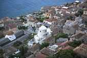 pic of sparta  - Top view of a traditional fortified town of Monemvasia - JPG