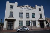 VALENCIA, SPAIN - JUNE 10, 2014: Policia Municipal (also known as Policia Local) in Valencia.  In Sp