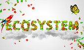 Ecosystem leaves particles 3D