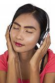 Beautiful Women With Headphones.