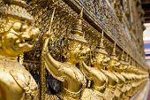 Golden Garuda Statue Of Wat Phra Kaew