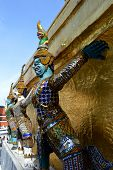 Giants of gilded chedi, Wat Phra Kaew, Thailand