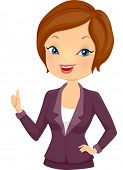 Illustration of a Girl in Corporate Attire Giving a Thumbs Up