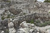 The ruins of the ancient city.