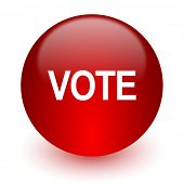 vote red computer icon on white background