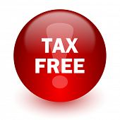 tax free red computer icon on white background