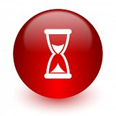 time red computer icon on white background