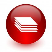 layers red computer icon on white background
