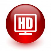 hd display red computer icon on white background